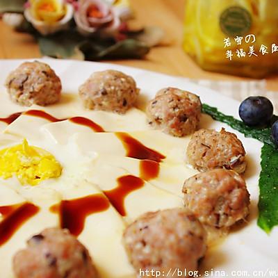 8分钟打造夏日最营养全面的简单美味———肉沫豆腐蒸鸡蛋