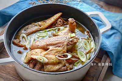 #快手又营养,我家的冬日必备菜品#值得等待的干豇豆老鸭汤
