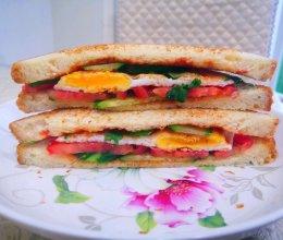 三明治土司的做法