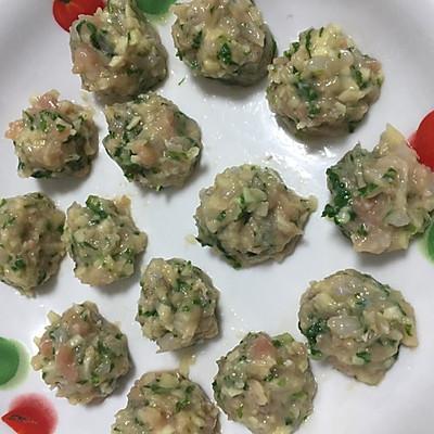鲜虾鸡肉丸 宝宝辅食