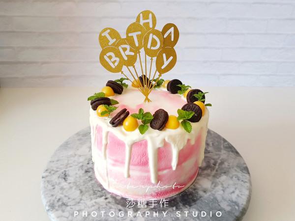 小清新生日蛋糕的做法