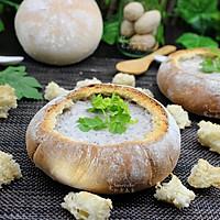 提高免疫,面包香菇浓汤#柏翠辅食节-春节辅食#的做法图解17