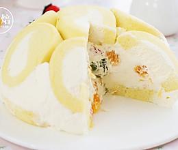 半球蛋糕卷水果奶油蛋糕的做法