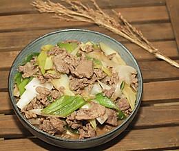 #快手又营养,我家的冬日必备菜品# 葱爆羊肉的做法