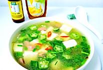 秋葵豆腐汤的做法