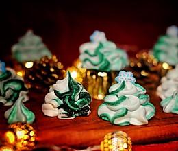 迟到的圣诞节-法式圣诞树蛋白糖的做法