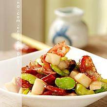 杏鲍菇炒腊肠