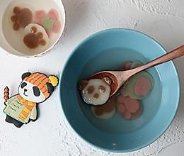 彩色琉璃汤圆、熊掌汤饼、传统猪油黑芝麻馅儿做法集的做法