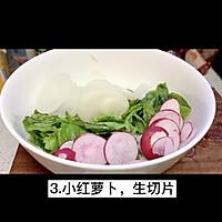 """#美食视频挑战赛#猫叔教你一款""""水萝卜鲮鱼油麦菜沙拉""""的做法图解4"""