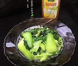 #太太乐鲜鸡汁玩转健康快手菜#鲜鸡汁蒜蓉炒上海青的做法