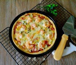 鲜虾火腿披萨的做法