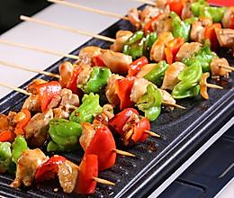 时蔬鸡肉烤串的做法