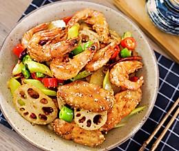 干锅鸡翅虾【孔老师教做菜】的做法