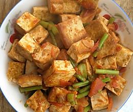 茄汁脆豆腐的做法
