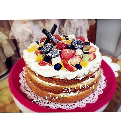 戚风蛋糕(8寸)裸蛋糕