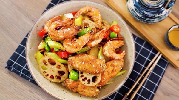 干锅鸡翅虾【孔老师教做菜】