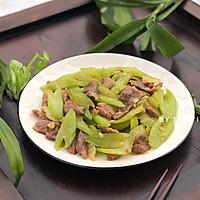 芹菜炒肉片的做法图解6