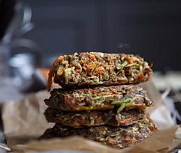 超少油健康的西葫芦烤饼烤箱快手食谱的做法