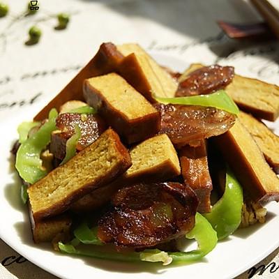 四川豆腐干炒腊肠