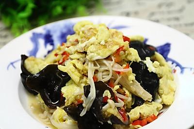 快手家常菜:金针菇炒鸡蛋