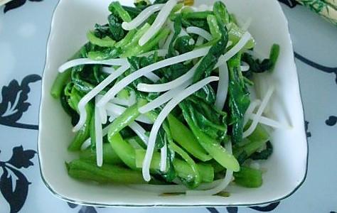 银芽拌菠菜的做法