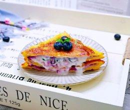 #精品菜谱挑战赛#爆浆蓝莓三明治的做法