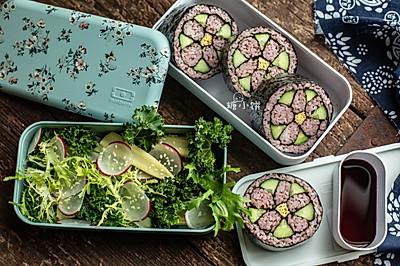 花朵寿司+蔬菜沙拉