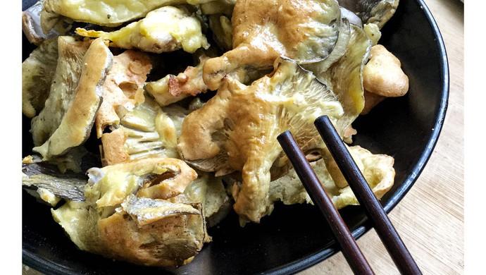 少油版炸蘑菇--空气炸锅