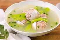 丝瓜蛤蜊肉丸汤|美食台的做法