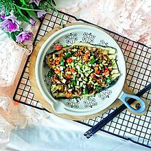 新年开胃菜:酸辣蒜香烤茄子