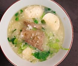 #换着花样吃早餐#[元气早餐]猪肝肉丸粥