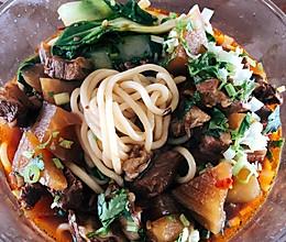 红烧牛肉面,牛肉饸餎、萝卜牛腩煲的做法
