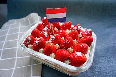 千层草莓盒子