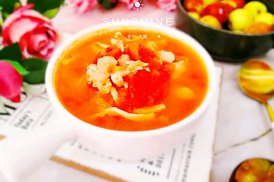 番茄平菇巴沙鱼酸汤