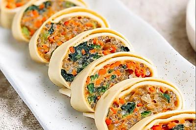 腐皮素菜卷