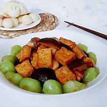 香菇豆蛋油菜花