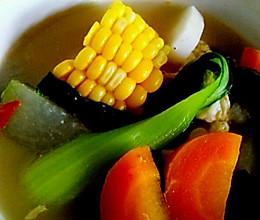 玉米蔬菜汤的做法