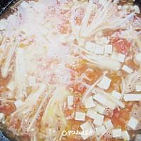 番茄金针菇豆腐汤的做法图解9