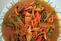 芦笋炒鲜虫草花的做法