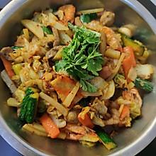 家庭版大虾+鸡翅的麻辣香锅