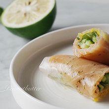 低脂健康——芒果青瓜烟熏三文鱼越南春卷