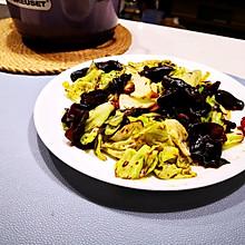 低卡美味•酱爆洋白菜炒木耳