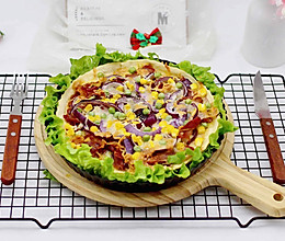 香酥脆皮的培根芝士披萨~料足味美的做法