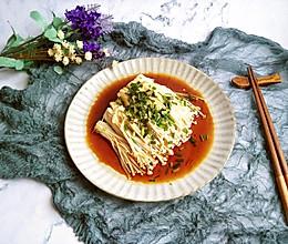 #花10分钟,做一道菜!#凉拌金针菇的做法