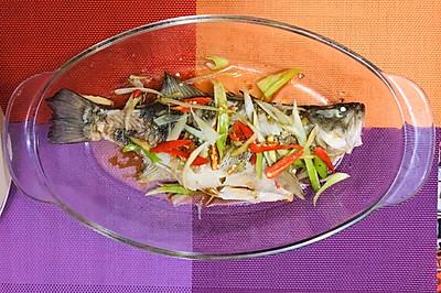 清蒸鲈鱼(鲳鱼、鳊鱼、东星斑、桂鱼也适用)