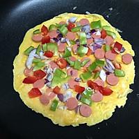快手早餐—雞蛋餅披薩的做法圖解8