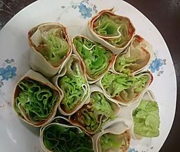 百叶卷生菜(辣酱版)的做法