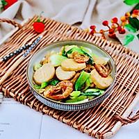 #一道菜表白豆果美食#杏鲍菇虾干青菜小炒的做法图解16