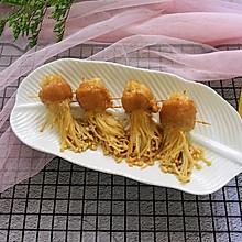 #夏天夜宵High起来!#雪花肉烤金针菇