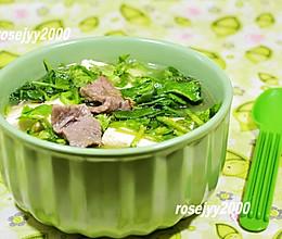 牛肉菠菜豆腐汤的做法